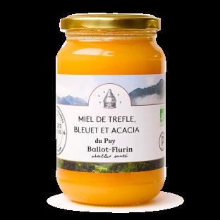 Miel de Trèfle, bleuet et Acacia